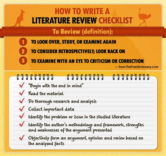 Write dissertation lit review