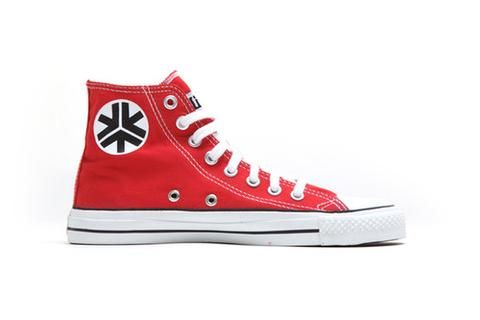 Organic Fairtrade Sneakers Hitops Red