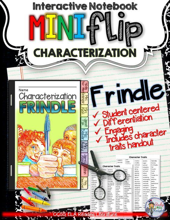 Frindle: Interactive Notebook Characterization Mini Flip ($)