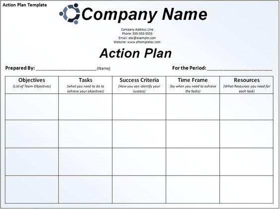 Action Plan Template 3 Planning Pinterest Project management - action plan