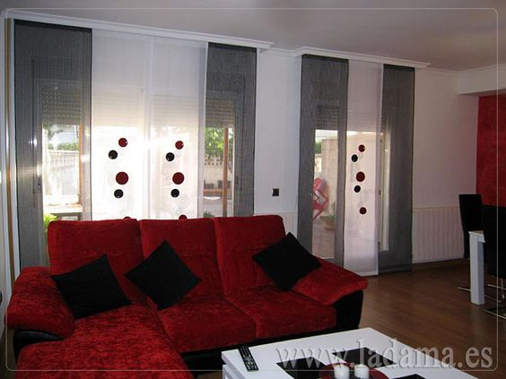 Decoraci n para salones modernos cortinas paneles for Pinterest decoracion salones