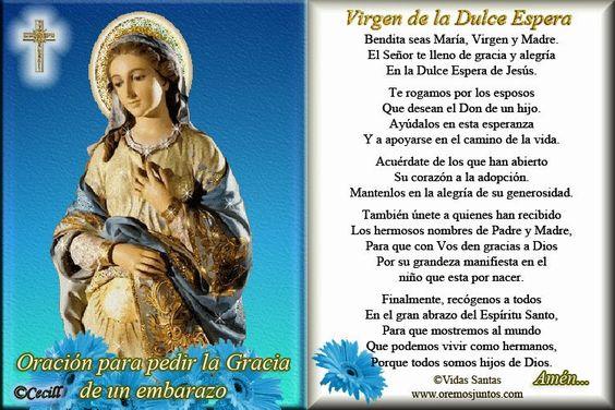 Oración Virgen dulce espera