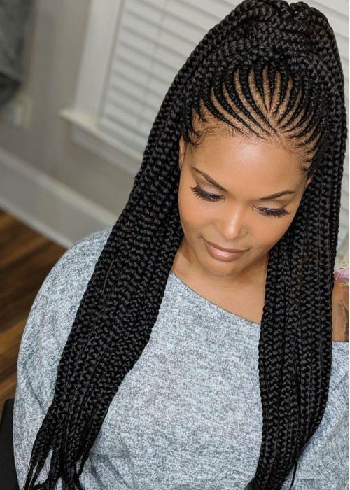 Braided Hairstyles Ponytails 70s Braided Hairstyles Braided Hairstyles Shaved Sides Brai In 2020 African Hair Braiding Styles African Hairstyles Braided Hairstyles