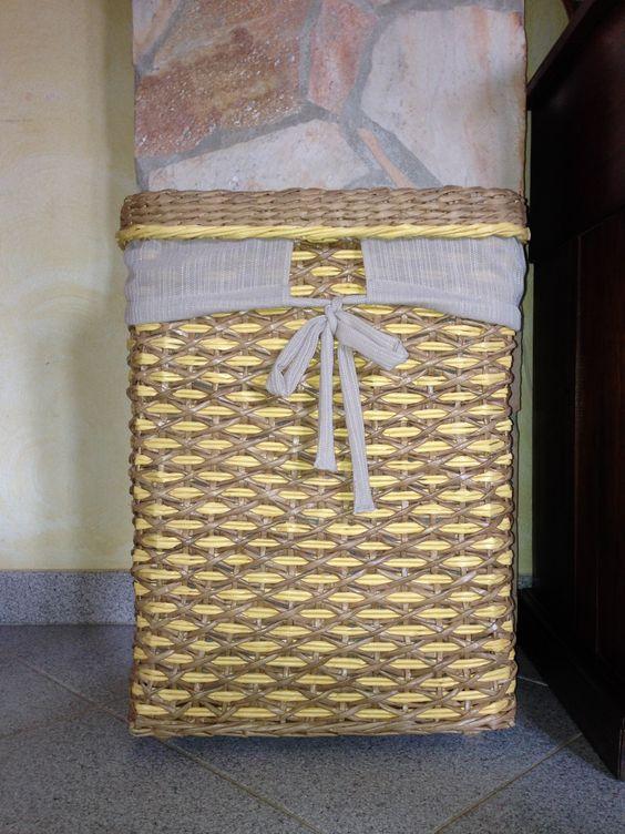 Porta biancheria rustico fatto da Elisabet M :)