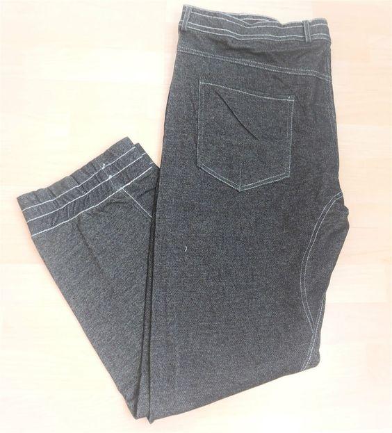 Men Denim Effect Jogger Casual Trousers Sweat Pants Jogging  Plus Size XXXL 3XL