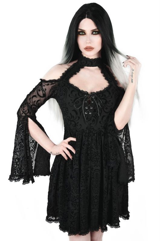 Mini Robe Gothique Glam Rock Beyond Dawn Maiden En 2020 Robe Gothique Mini Robe Glam