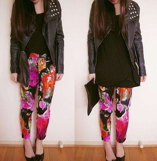 Cotton On  Jacket, Temt  Top, Nasty Gal Clutch, Glassons  Pants, Zara Flats