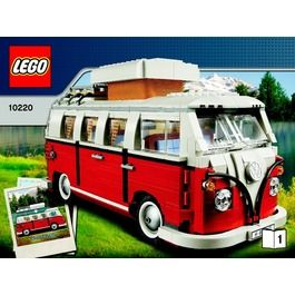 LEGO Volkswagen T1 Camper Van Set 10220 Instructions