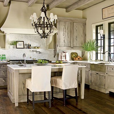 Pecky cypress kitchen.