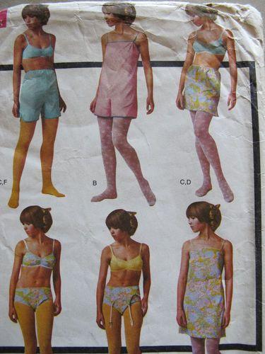 Vintage 1968 Sewing Pattern McCall's 9176 Underwear Garter ...