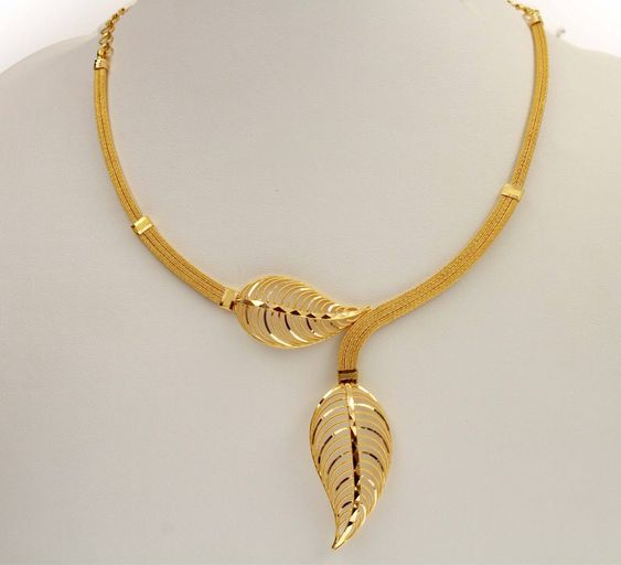 Wedding Leaf Shaped Necklace Design: