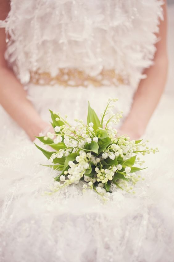 romantic lily of the valley bouquet