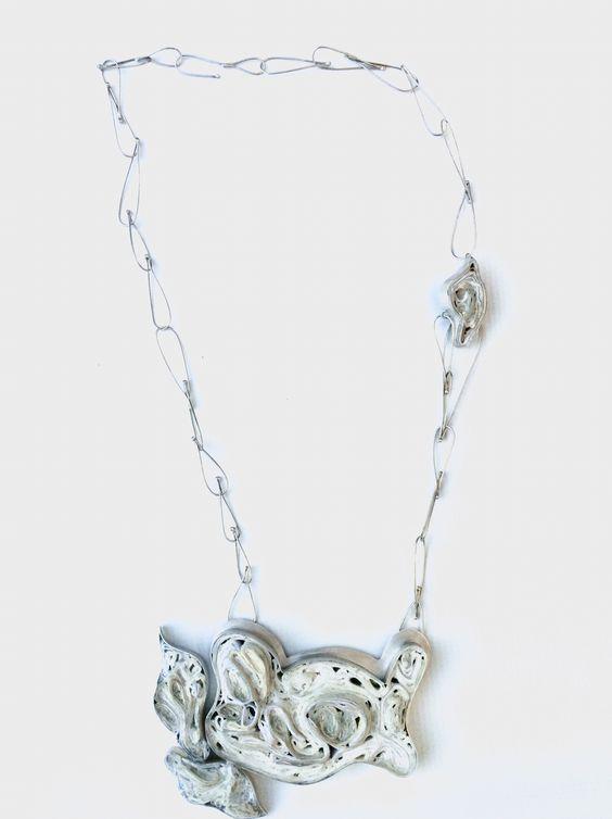 Yiota Vogli - summer whites 2016 - Necklace, paper, sterling silver, alpaca@yiotavogli: