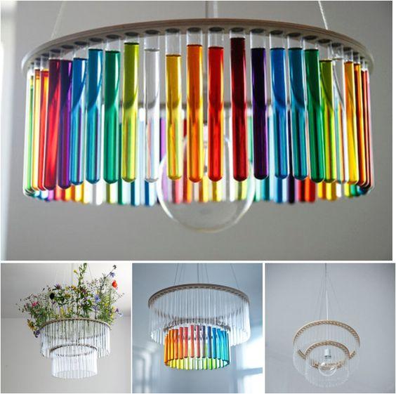 Ideas de decoraci n hoy l mparas con tubos de ensayo - Decoracion con lamparas ...