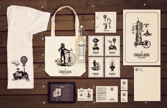 CASA DEL AGUA/Designed by Cadena Asociados/ Art direction: Ignacio Cadena/ Graphic design: Rocio Serna/ Bottle design: Nouvel Studio / Cadena+Asoc Branding