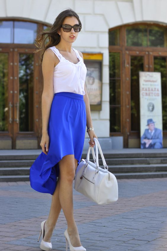 Kate Orwell: Electric Blue Skirt