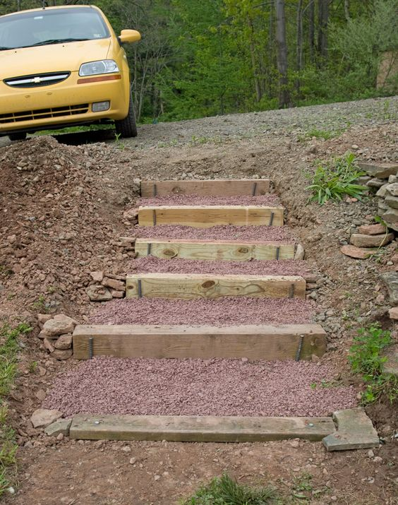 Building stairs in hillside google search landscape for How to build a house on a steep slope