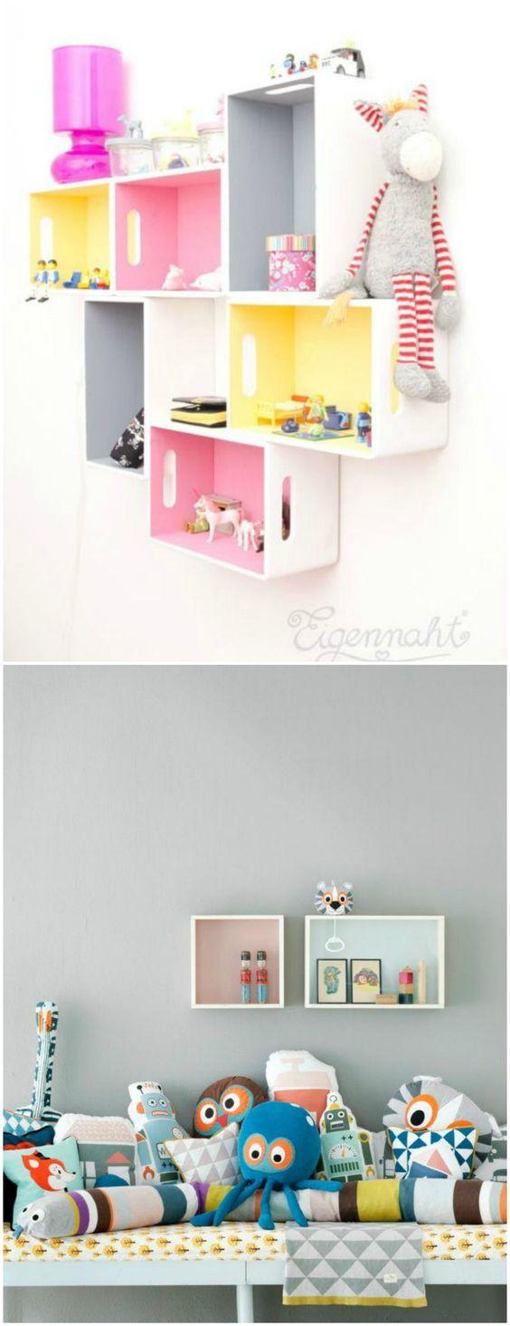 formas de decorar una pared infantil visto en momoccacom