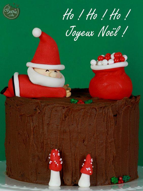 Buche du pere noel f rie cake b ches g teaux de no l pinterest originals cakes and noel - Buche de noel decorations ...