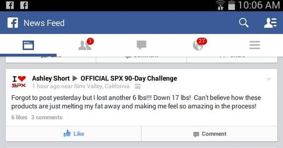 More proof that the science behind our products make them give you amazing results. #SPXNUTRITIONWORKS www.SPXNutri-tion.com