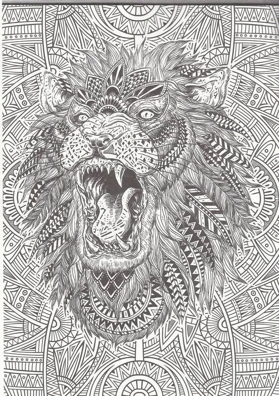 Advanced Adult Coloring Pages Lion Together With Journalism Worksheet ...