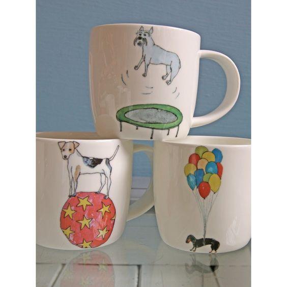 Illustrated Dog Mug