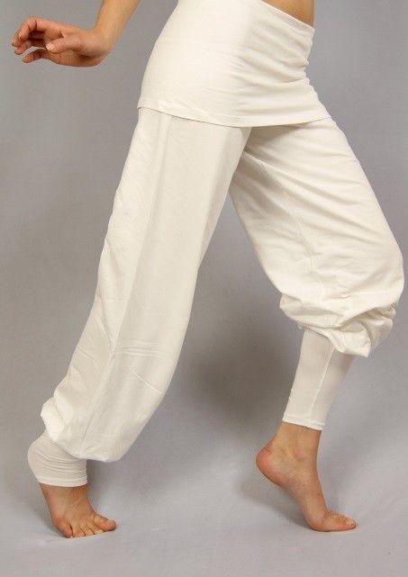 Yoga Hose Sohang Trainingshose Sporthose weiss XS-XL Wellness & Wohlfühlen Körper & Geist Yoga Yoga-Bekleidung Damen Hosen