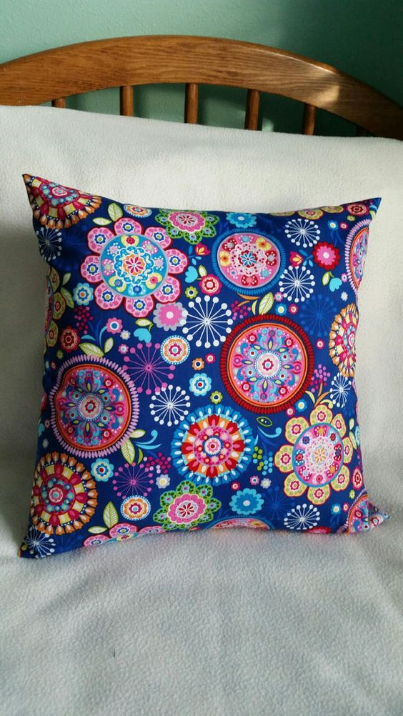 Blue Flowers Tribeca Designs Pillow Cover Swappillow Covers