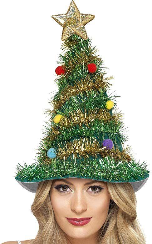 Amazon Com Christmas Tree Hat Costume Accessory Toys Games Christmas Tree Hat Christmas Tree Costume Christmas Tinsel