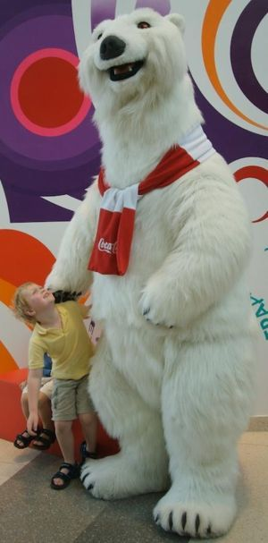 COCA-COLA POLAR BEAR Full body puppet used for promotional appearances.