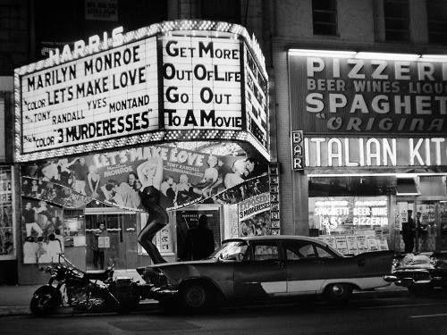 harris theatre w 42nd street new york city 1960 photo