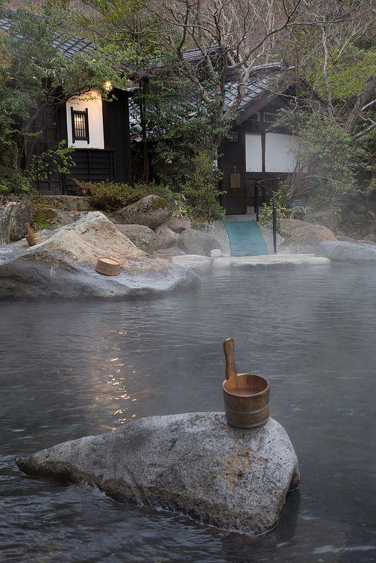 Rotemburo in Kurakawa onsen, Kyushu, Japan.