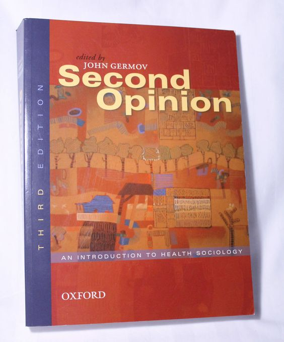 Oxford Second Opinion An Introduction To Health Sociology Textbook 2007 Rp 90 62 Sociology Textbook Introduction