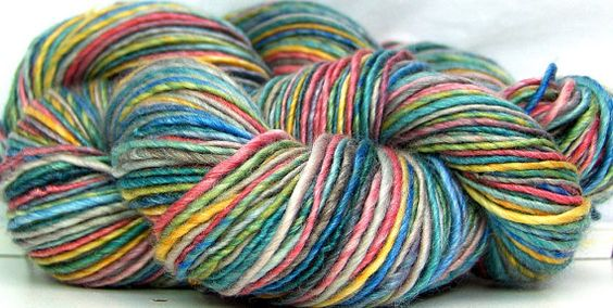 HandSpun Yarn Merino Wool and Tencel