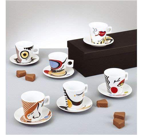 Thomas Coup 6 Sets Cappuccinotassen Tee-Tassen Porzellan Weiß Spülmaschinenfest