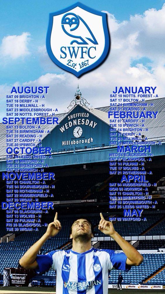 SWFC Fixtures for 2014/15 season