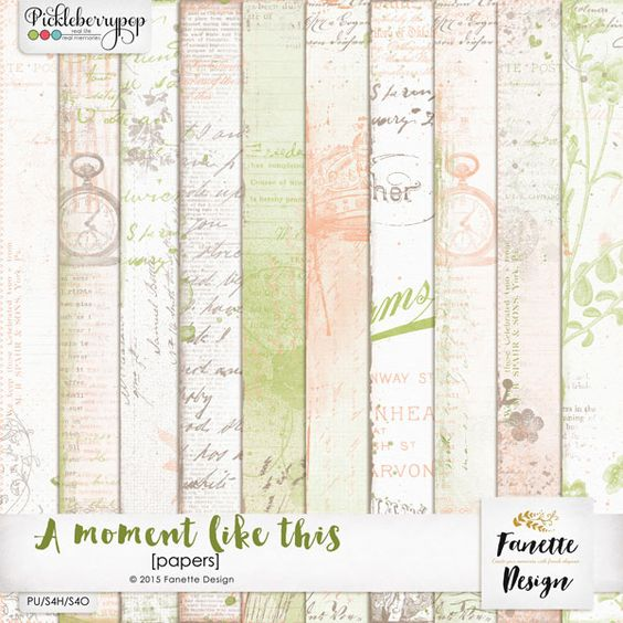 A moment like this {papers} by Fanette Design #fanettedesign #pickleberrypop #digitalscrapbooking #picklebarrel #wedding