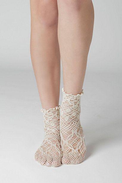 Shining Crochet Socks