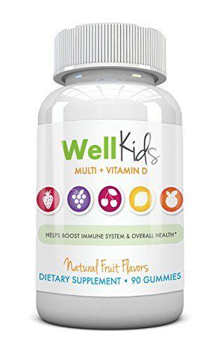 Children's Chewable Gummy Multivitamin - WellKids Multi + Vitamin D - All Natural Color And Flavor - Gluten And Gelatin Free Wellness NutraceuticalsTM http://www.amazon.com/dp/B00PFZI13I/ref=cm_sw_r_pi_dp_nRm5ub1E4MDXH