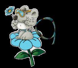 Oh my Alfabetos!: Simpático alfabeto de ratoncito en una flor.