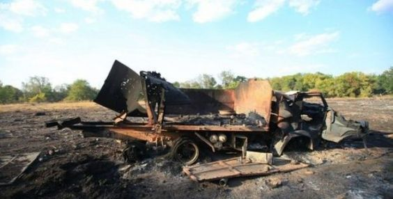 WAR IN UKRAINE. Five of German humanitarian convoy trucks involved in the accident chain