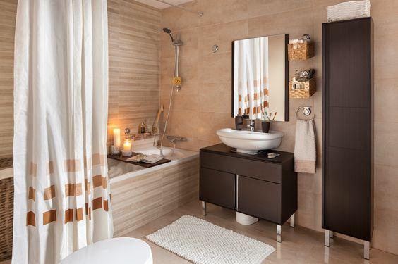 Un baño a la última sin hacer agujeros - Leroy Merlin: