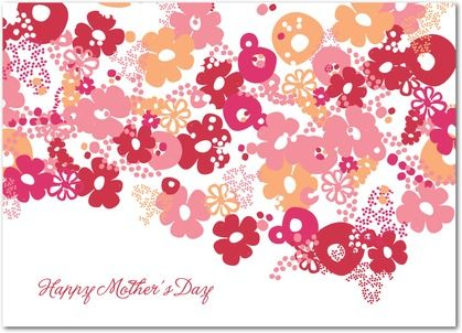 Dense Floral - Mother's Day Greeting Cards - Oh Joy! - Cranberry - Red : Front