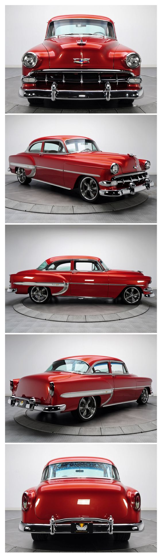 """1954 Chevrolet Bel Air-Not quite the """"Tri-Five"""", but still a beautiful car and photographs."""