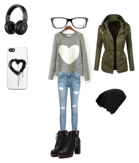 """""""Untitled #4"""" by akate02 on Polyvore featuring Current/Elliott, Ray-Ban and Zero Gravity"""