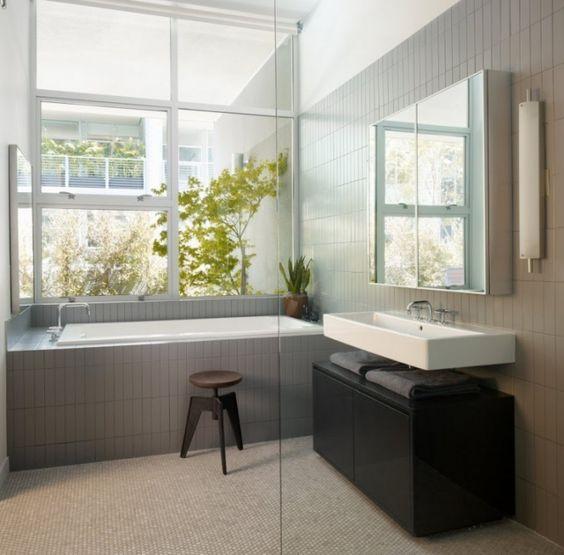 Schwebendes Waschbecken mit Unterschrank – Ideen für Ihr Bad