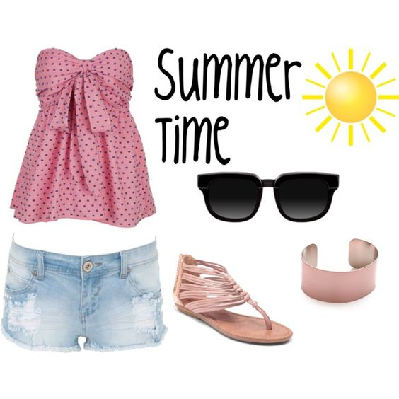 Summer time by crunxi on Polyvore