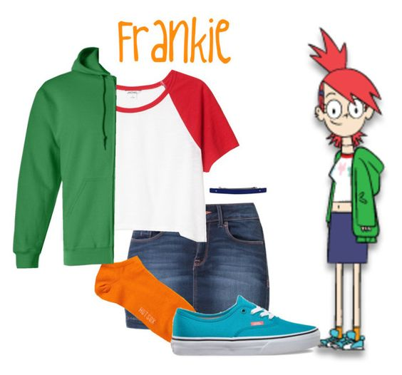 """Frankie - Foster's Home for Imaginary Friends"" by snowj ❤ liked on Polyvore featuring Calvin Klein Jeans, HOT SOX, Monki, Vans, cartoons, fosters and CN"