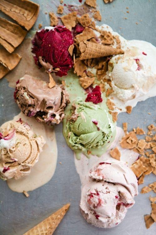 ✕ Delightful flavours… / #icecream #colors #flavours