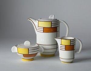Eva Zeisel, Kaffeeservice (Form 3269, Dekor 3526), 1929 Herstellung: Schramberger Majolikafabrik, Schramberg, Deutschland